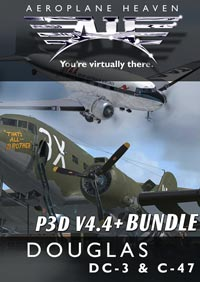 AEROPLANE HEAVEN - DOUGLAS DC-3 AND C-47 BUNDLE P3D4.4+
