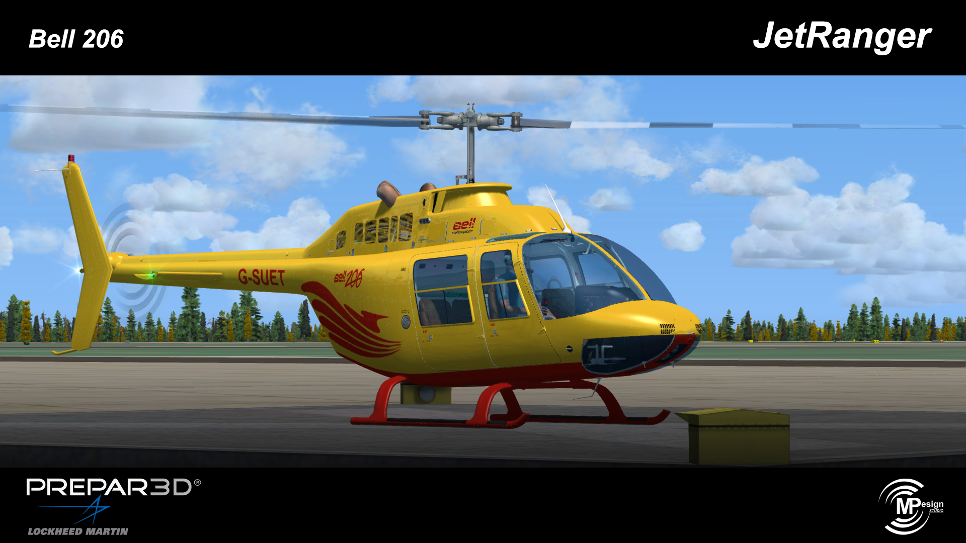 MP DESIGN STUDIO - BELL 206 P3D