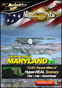 MEGASCENERYEARTH - PC AVIATOR - MEGASCENERY EARTH V3 - MARYLAND FSX P3D