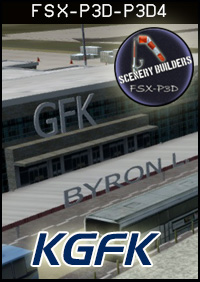 FSXCENERY - KGFK GRAND FORKS INTERNATIONAL AIRPORT FSX P3D