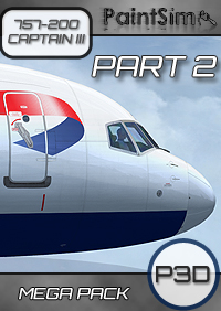 PAINTSIM - UHD MEGA TEXTURE PACK (PART 2) FOR CAPTAIN SIM BOEING 757-200 III P3D V4