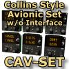 FI - CAV-SET - COLLINS STYLE FULL AVIONIC SET