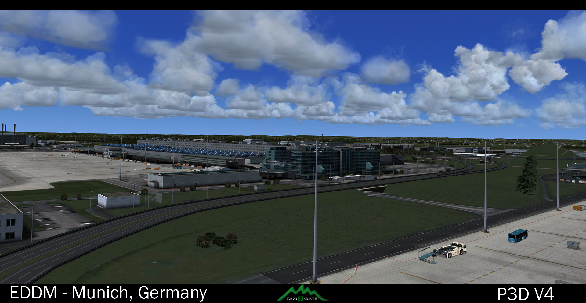 TAXI2GATE - MUNICH AIRPORT EDDM P3D