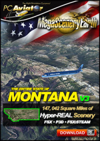 PC AVIATOR - MEGASCENERY EARTH V3 - MONTANA FSX P3D