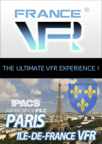 FRANCE VFR - PARIS-ILE-DE-FRANCE VFR FOR AEROFLY FS 2