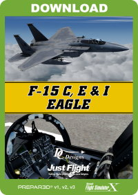 JUSTFLIGHT - DC DESIGNS F-15 C, D & I EAGLE FSX P3D 32-BIT VERSION