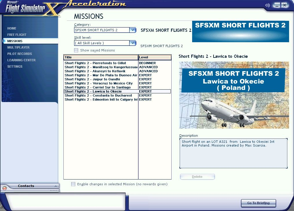 SIMPLE FSX MISSIONS - SHORT FLIGHTS 2