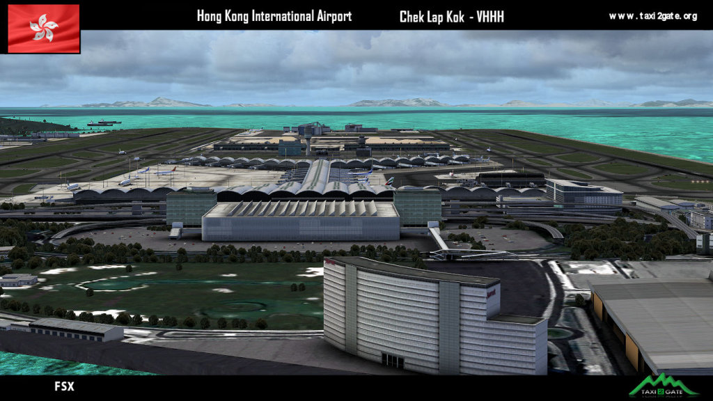 TAXI2GATE - HONG KONG INTERNATIONAL AIRPORT VHHH FSX P3D