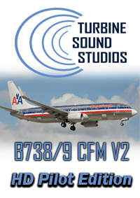 TURBINE SOUND STUDIOS - BOEING 737-800/900 CFM56-7B27 HD PILOT EDITION V2 SOUNDPACK FOR FS2004