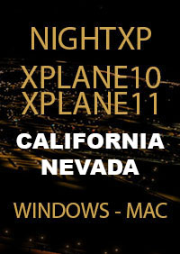 TABURET - NIGHT XP CALIFORNIA NEVADA FOR X-PLANE 10/11