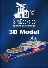 "SIMDOCKS.DE - 3D MODEL MEGA YACHT ""KIWI OF THE SEA"""