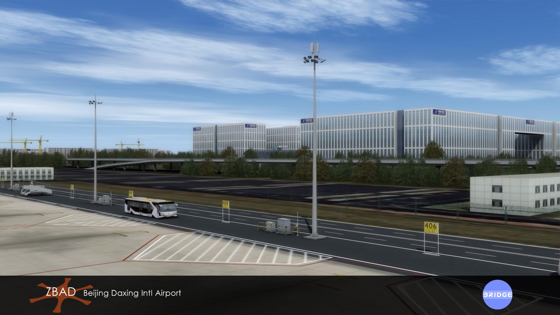 BRIDGE - BEIJING DAXING INTL AIRPORT ZBAD P3D