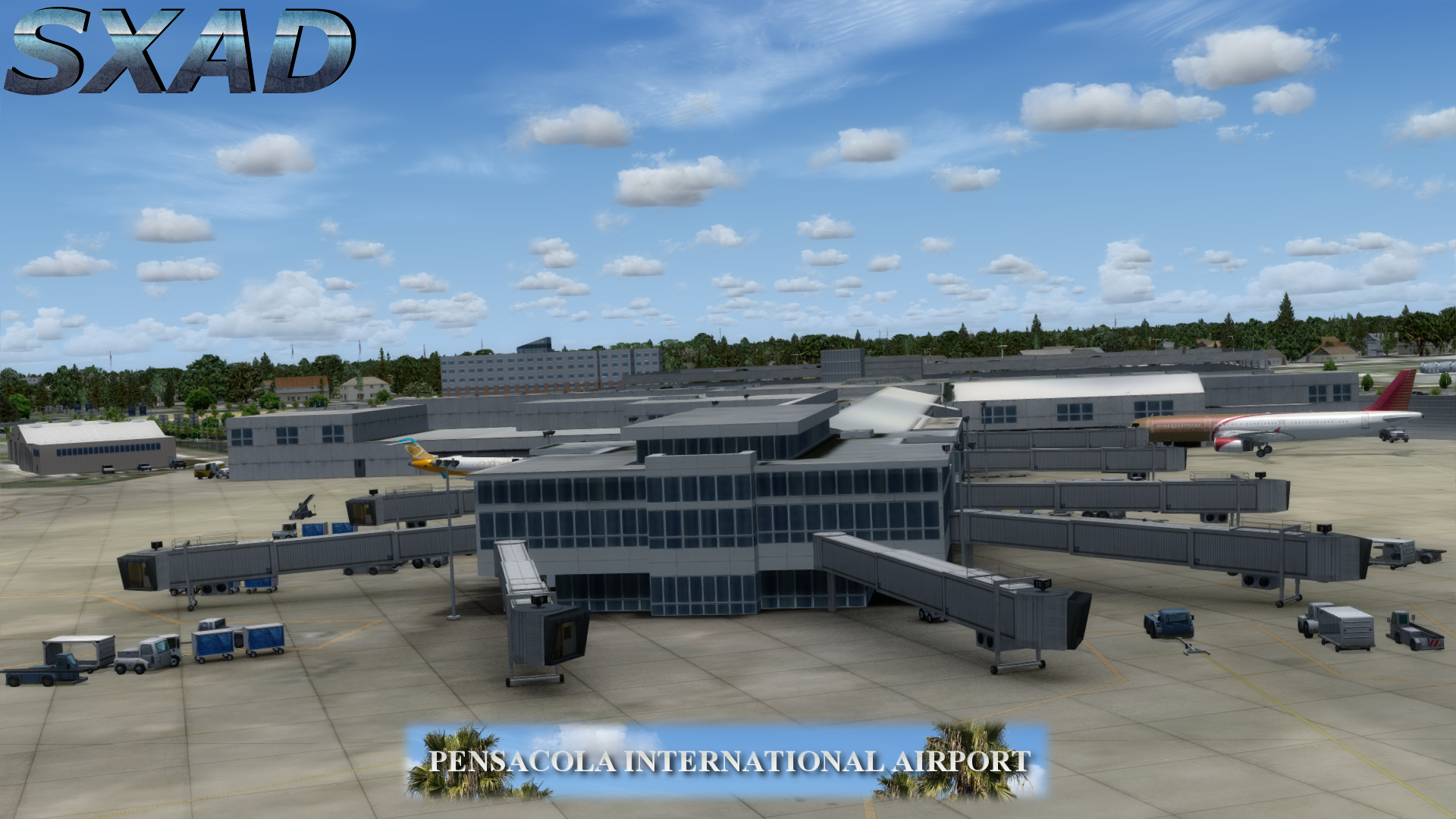 SXAIRPORTDESIGN - PENSACOLA INTERNATIONAL AIRPORT FSX P3D
