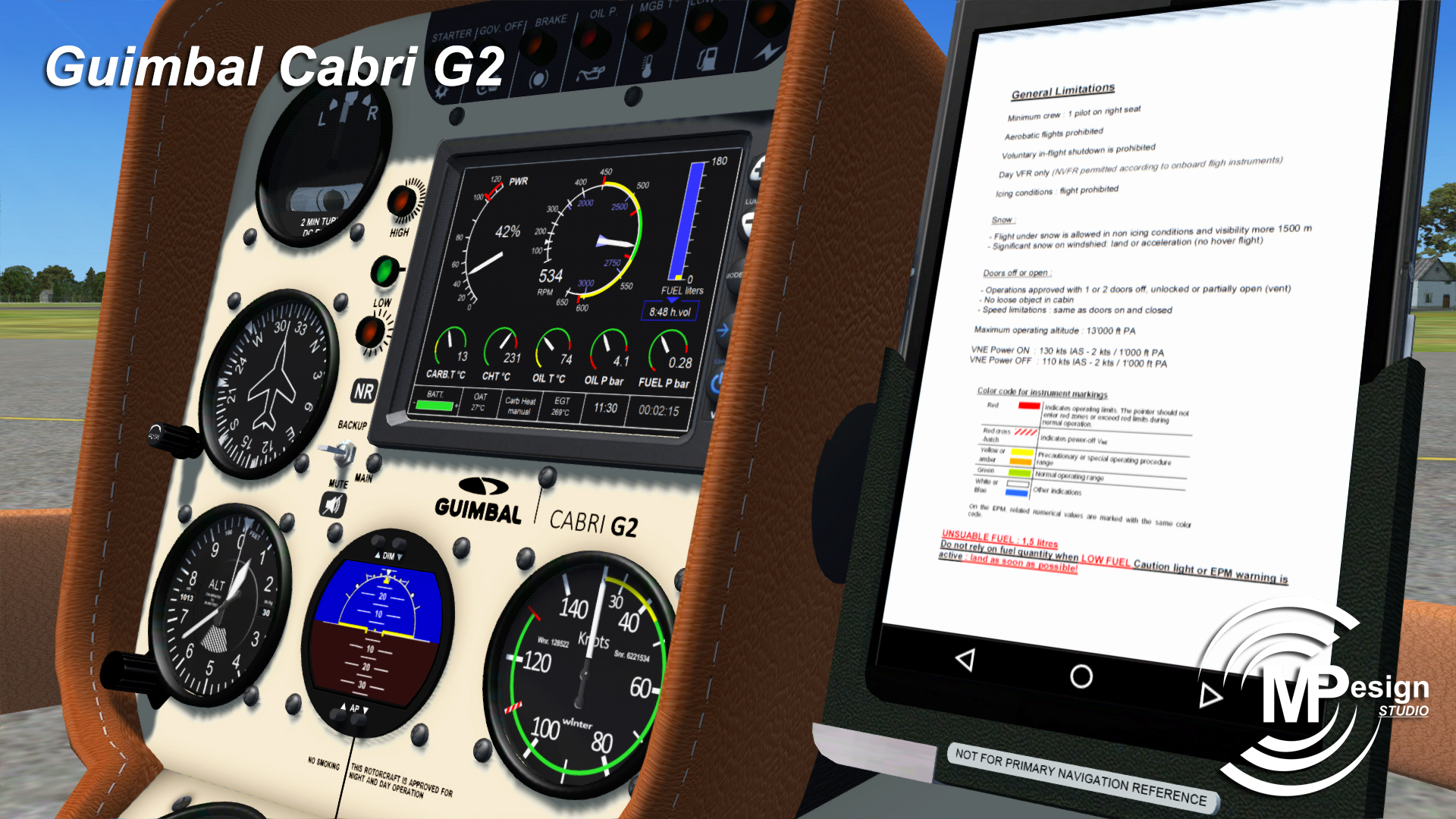 MP DESIGN STUDIO - GUIMBAL CABRI G2 FSX P3D