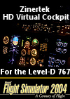 ZINERTEK - HD VIRTUAL COCKPIT FOR THE LEVEL-D 767