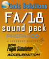 SONIC SOLUTIONS - FA/18 SOUNDPACK FSX P3D