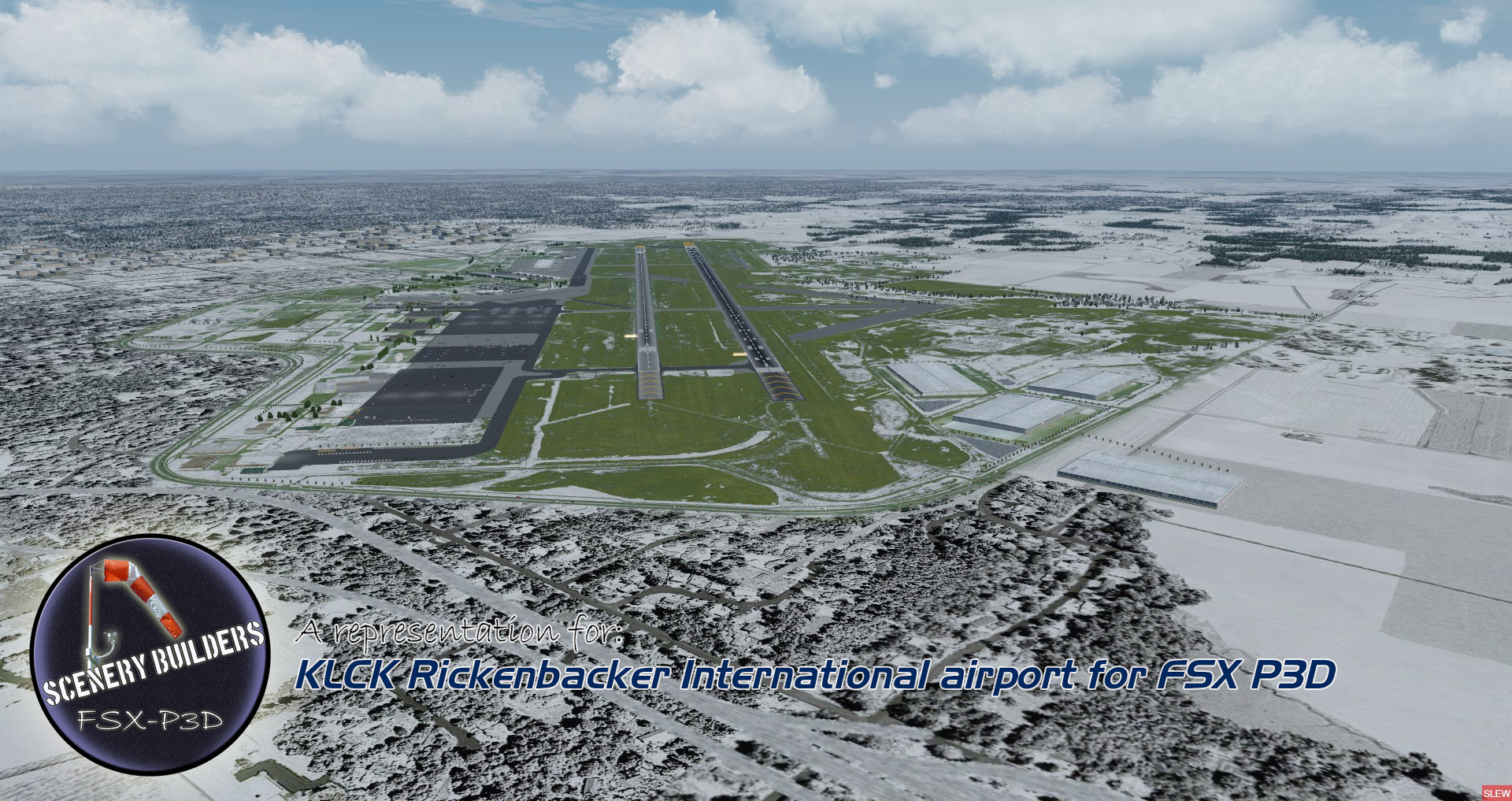 FSXCENERY - KLCK RICKENBACKER INTERNATIONAL AIRPORT FSX P3D