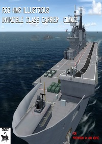 HMS ILLUSTRIOUS R06 INVINCIBLE CLASS AIRCRAFT CARRIER P3D4-5