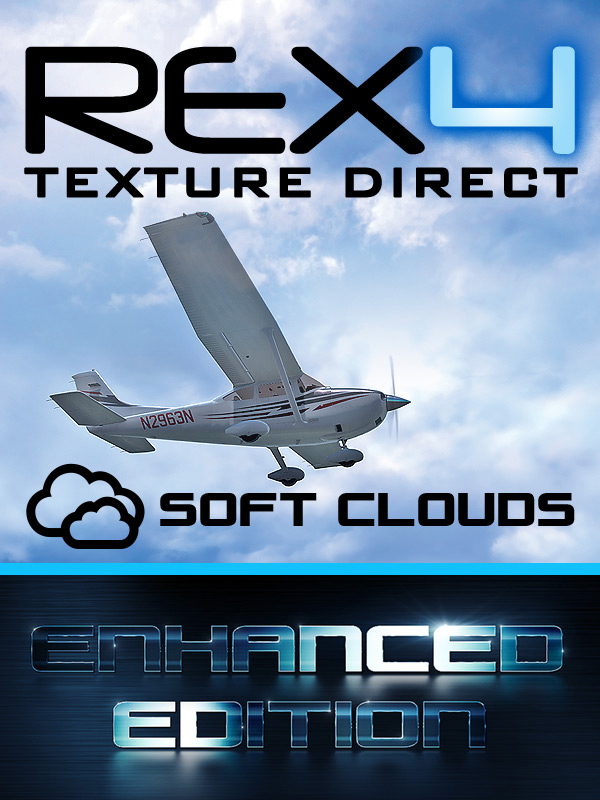 REX - REX4 TEXTURE DIRECT WITH SOFT CLOUDS - ENHANCED EDITION HD FSX P3D