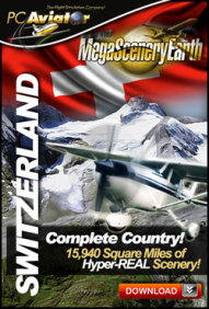 PC AVIATOR - MEGASCENERY EARTH - SWITZERLAND FSX P3D