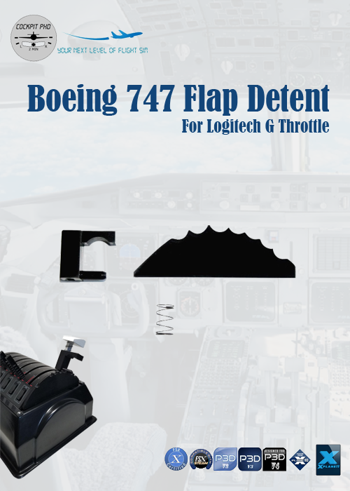 COCKPIT PHD - BOEING 747 FLAP DETENT FOR LOGITECH G THROTTLE
