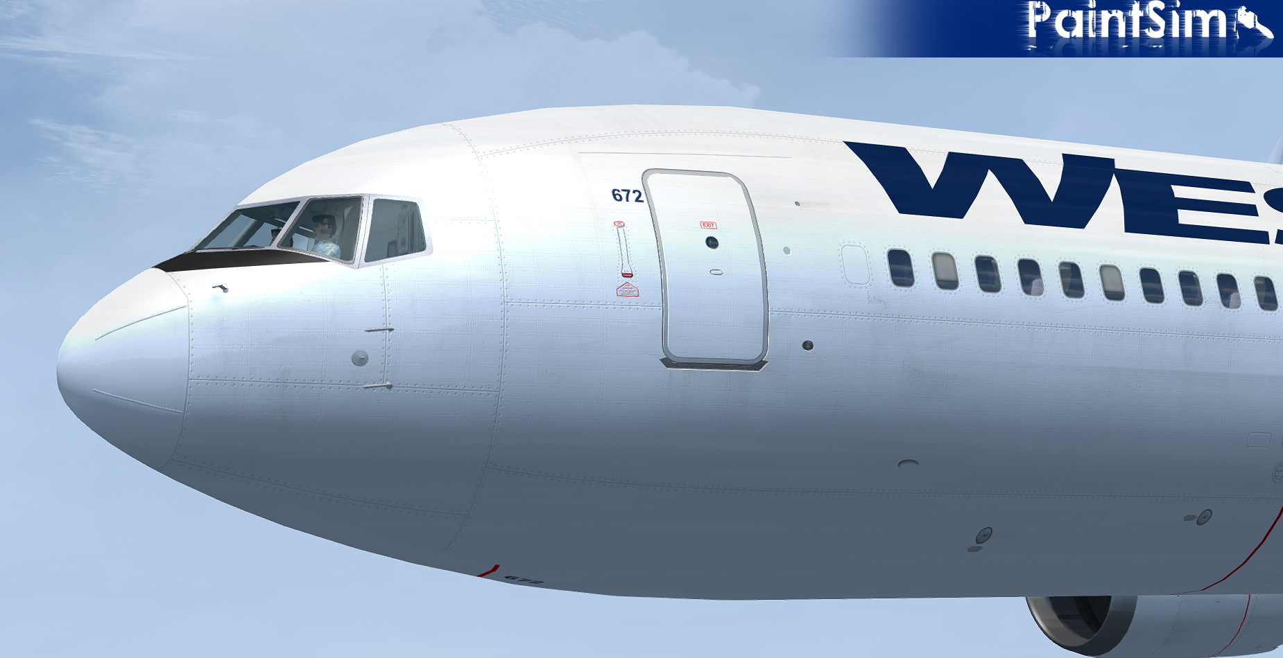 PAINTSIM - UHD TEXTURE PACK 2 FOR LEVEL-D BOEING 767-300ER FSX P3D