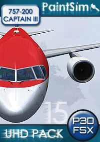 PAINTSIM - UHD TEXTURE PACK 15 FOR CAPTAIN SIM BOEING 757-200 III FSX P3D