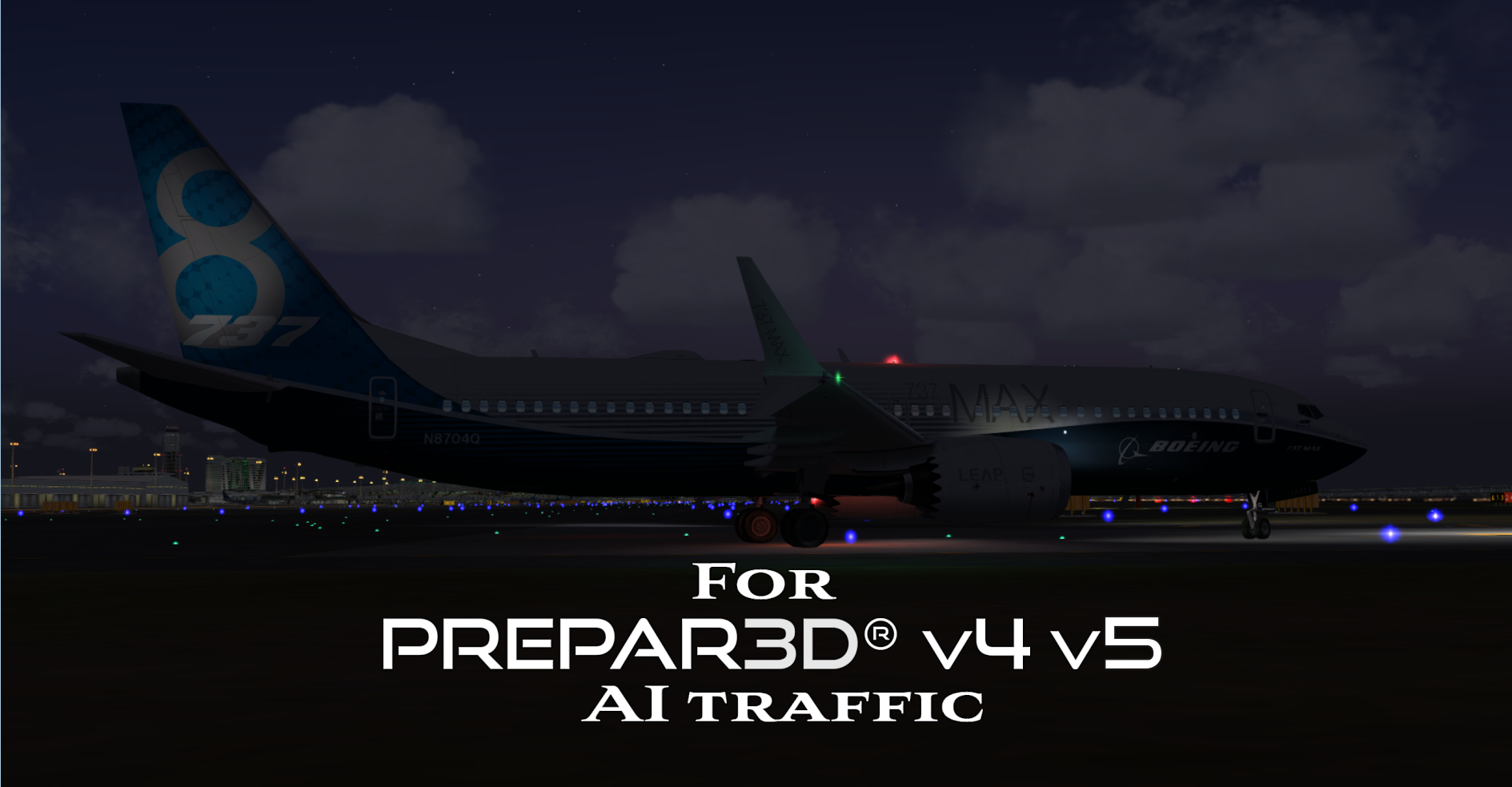 FSPXAI - BOEING 737MAX FOR P3DV4V5 AI-TRAFFIC