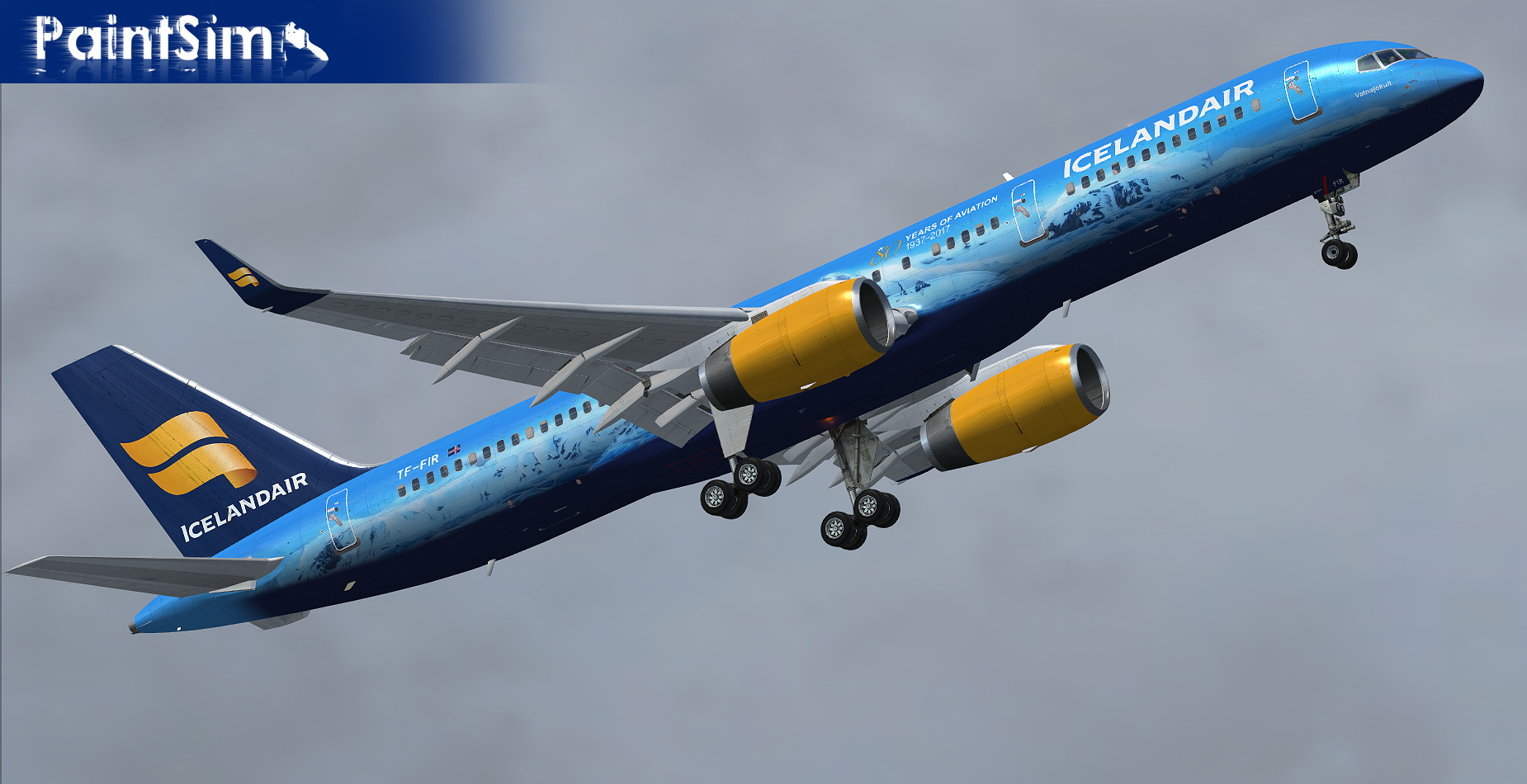 PAINTSIM - UHD TEXTURE PACK 4 FOR CAPTAIN SIM BOEING 757-200 FSX