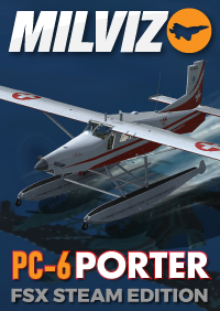 MILVIZ - PC-6 TURBO-PORTER 单发上单翼轻型飞机 FSX STEAM版本