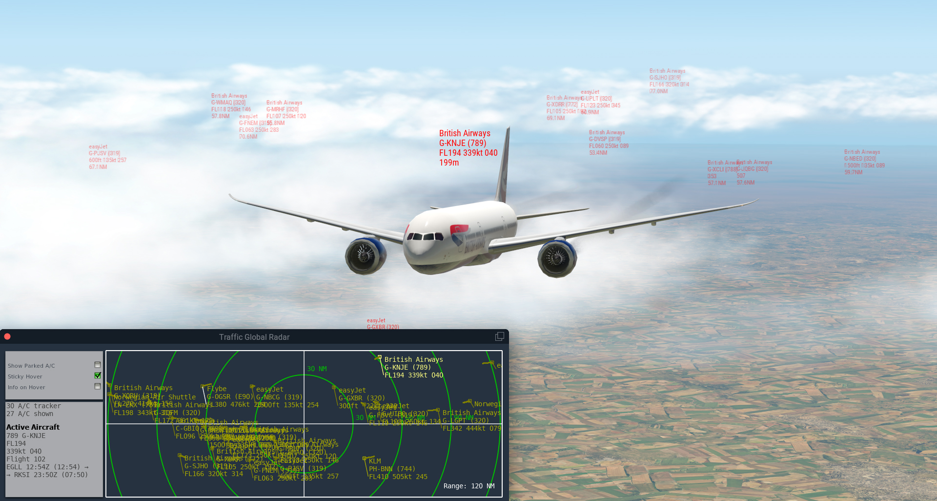 JUSTFLIGHT - TRAFFIC GLOBAL FOR X-PLANE 11