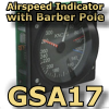 FI - GSA17 - INDICATED AIRSPEED WITH BARBER POLE