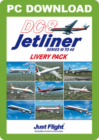 JUSTFLIGHT - DC-8 JETLINER SERIES 10 TO 40 LIVERY PACK 1 FSX P3D