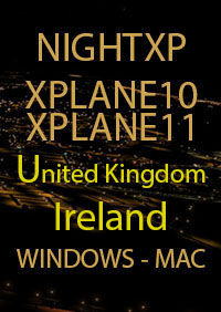 TABURET - NIGHT XP UNITED KINGDOM - IRELAND FOR X-PLANE 10/11