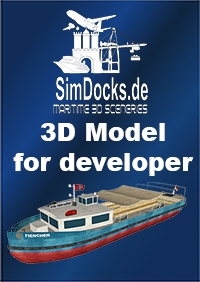 "SIMDOCKS.DE - 3D MODEL HAMBURG HABOR BARGE ""FIENCHEN"""