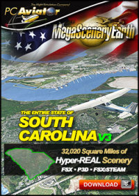 MEGASCENERYEARTH - PC AVIATOR - MEGASCENERY EARTH V3 - SOUTH CAROLINA FSX P3D