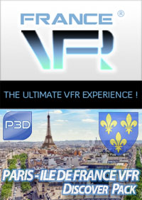 FRANCE VFR - PARIS-ILE DE FRANCE VFR DISCOVER PACK P3D4-5