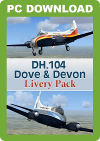 JUSTFLIGHT - DH.104 DOVE & DEVON LIVERY PACK FSX P3D