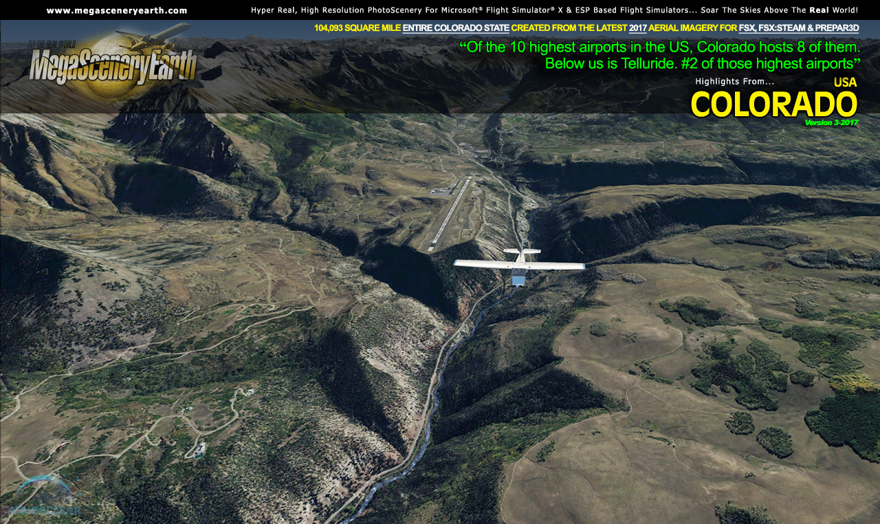 MEGASCENERYEARTH - COLORADO V3 2017 FSX P3D