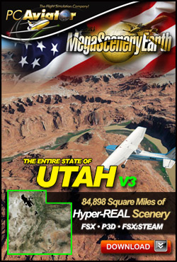 MEGASCENERYEARTH - PC AVIATOR - MEGASCENERY EARTH V3 - UTAH FSX P3D