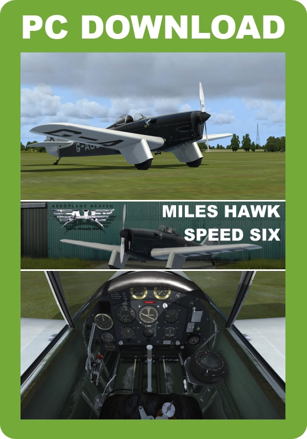 JUSTFLIGHT - AEROPLANE HEAVEN MILES HAWK SPEED SIX FSX P3D