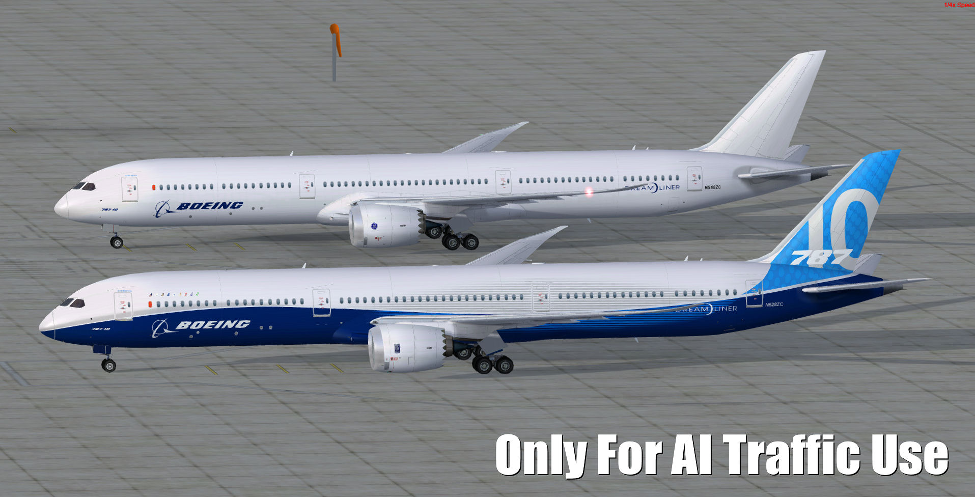 FSPXAI - BOEING B787 V2 FOR FSX/P3D AI-TRAFFIC