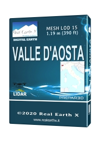 REAL EARTH X - VALLE D'AOSTA MESH LOD 15 P3D5