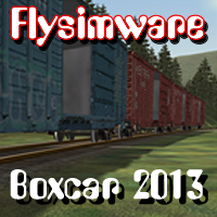 FLYSIMWARE - BOXCAR RAILCAR SET FOR MSTS