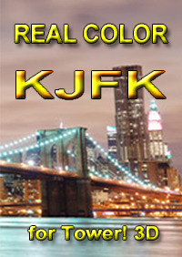 REAL COLOR KJFK FOR TOWER! 3D