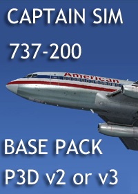 CAPTAIN SIM - 737 CAPTAIN - 737-200 BASEPACK P3D V2  V3