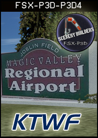 FSXCENERY -   KTWF JOSLIN FIELD / MAGIC VALLEY AIRPORT FSX P3D