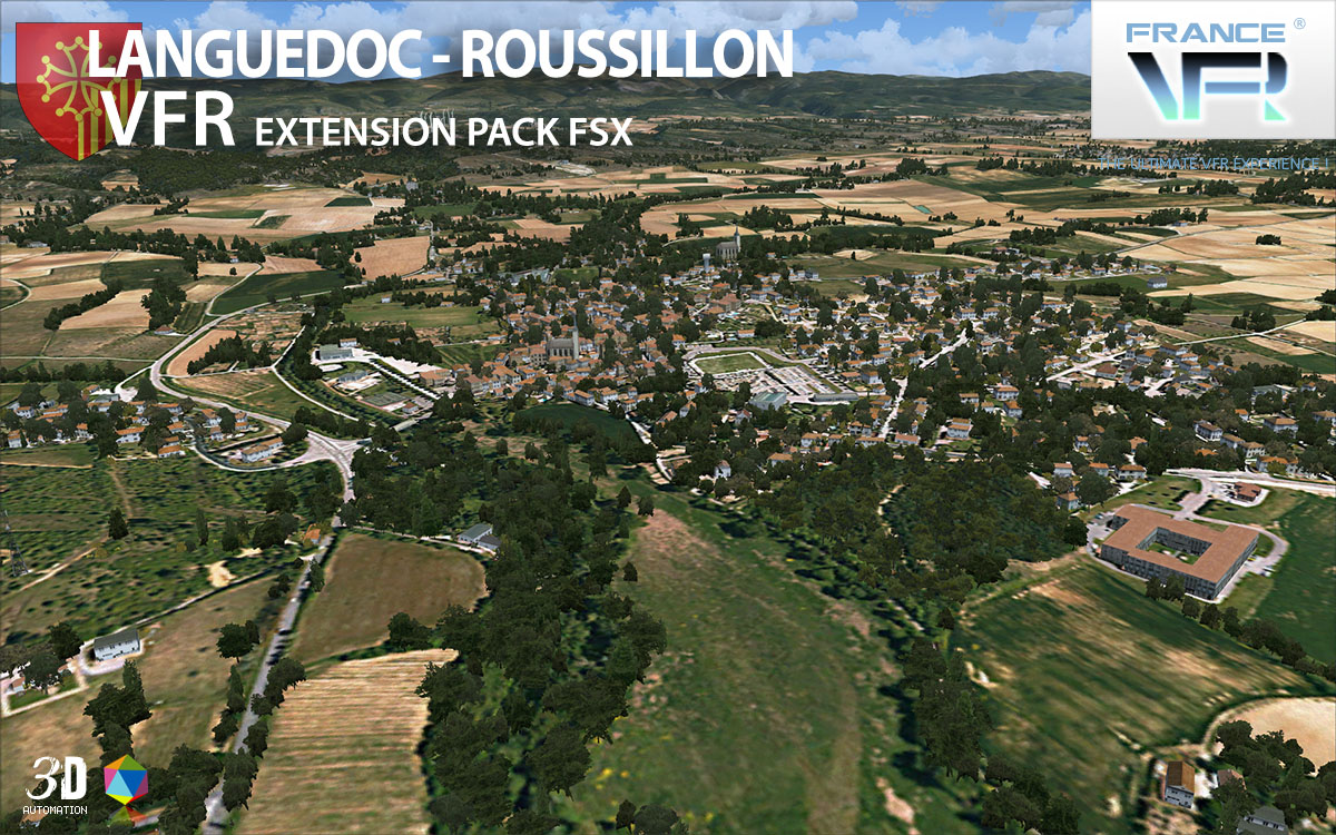FRANCE VFR - LANGUEDOC-ROUSSILLON VFR EXTENSION PACK FSX