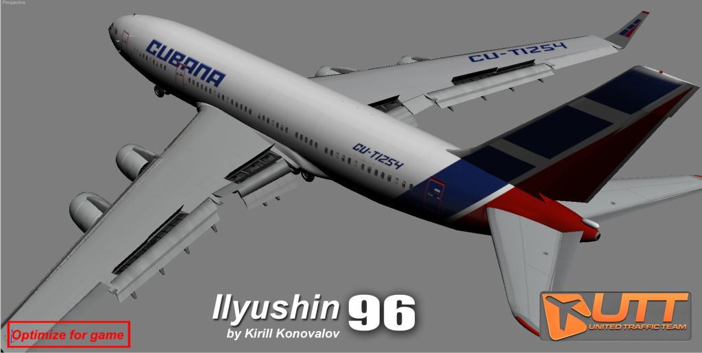 UTT - ILYUSHIN IL 96 SOURCE MODEL FOR 3DS MAX
