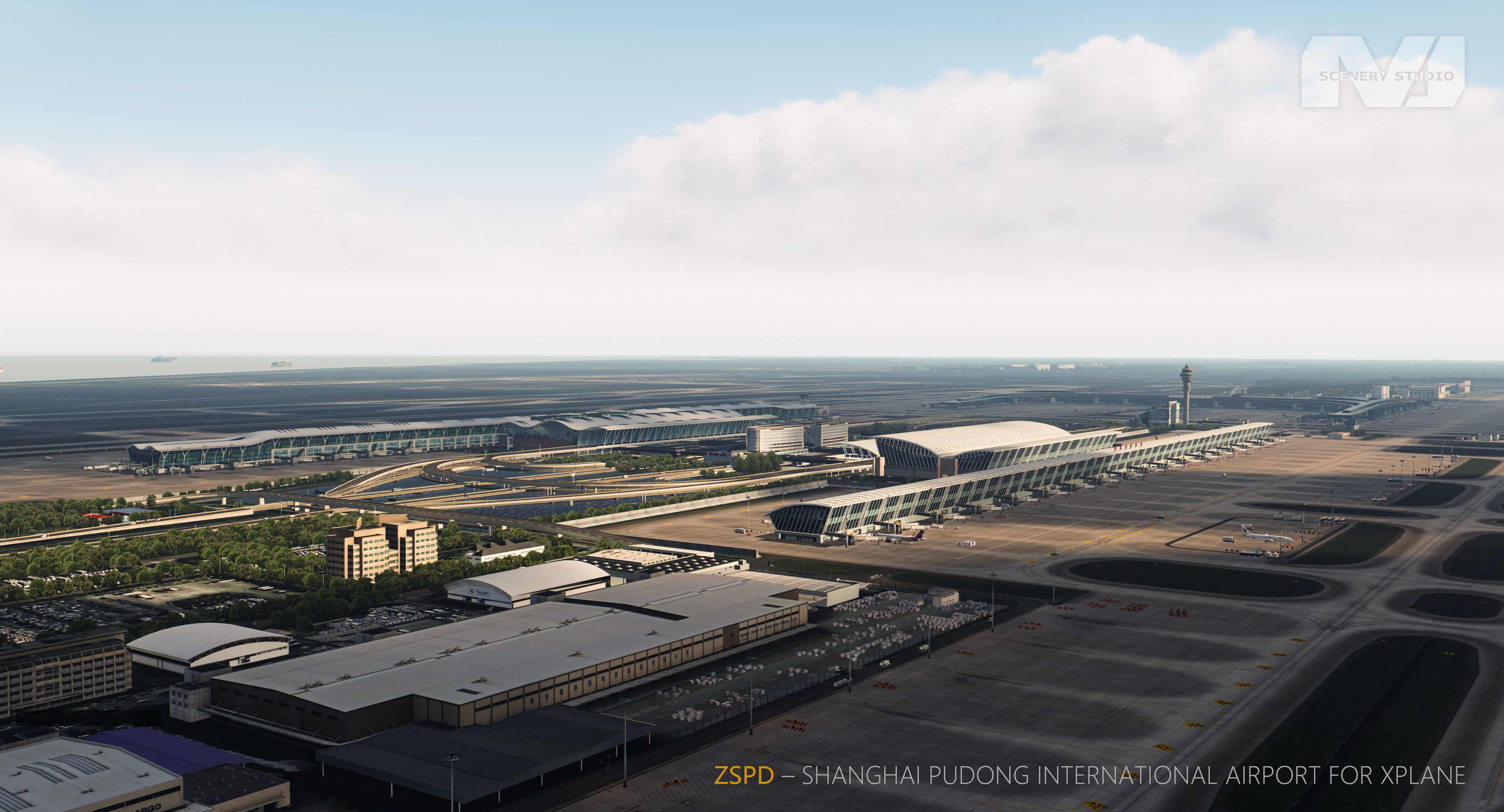 AMJ SCENERY STUDIO - ULTRA CHINA - SHANGHAI PUDONG INTL AIRPORT FOR X-PLANE11